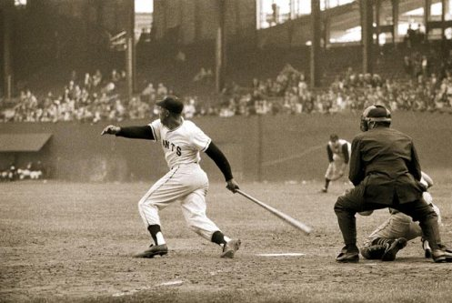 Willie Mays 1957 polo grounds
