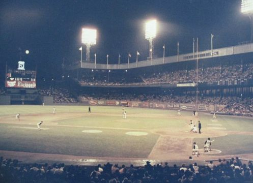 Polo Grounds at Night