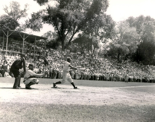 Jackie Robinson at  1951 Hall Of Fame Game