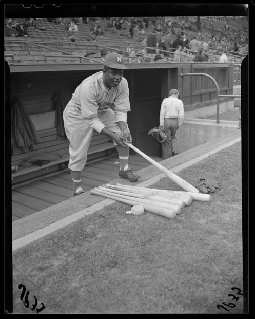 Jackie Robinson - Montreal Royals Dugout