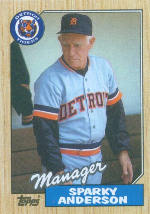 Sparky Anderson 1987 Topps