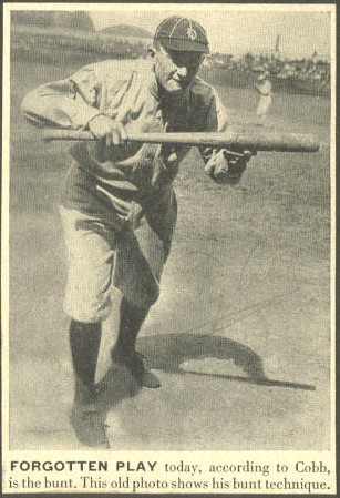 Ty Cobb - Forgotten Play (bunt)