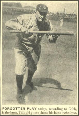 Ty Cobb - Forgotten Play (bunt)