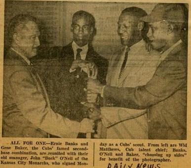 Gene Baker, Ernie Banks, Buck O'Neil