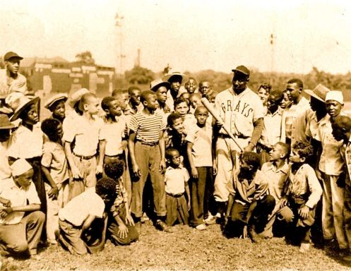 Josh Gibson with children