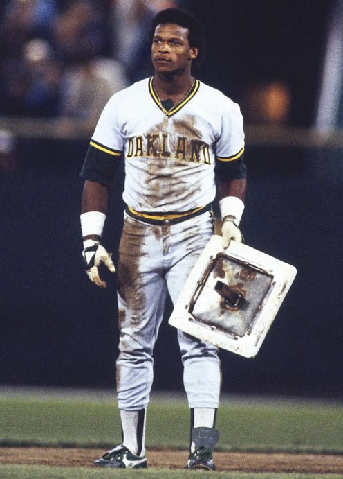 Rickey Henderson dirty uniform