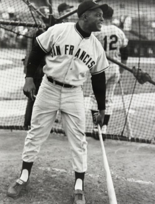 WIllie Mays BP