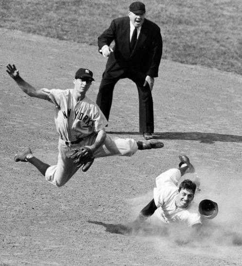 Jerry Coleman double play