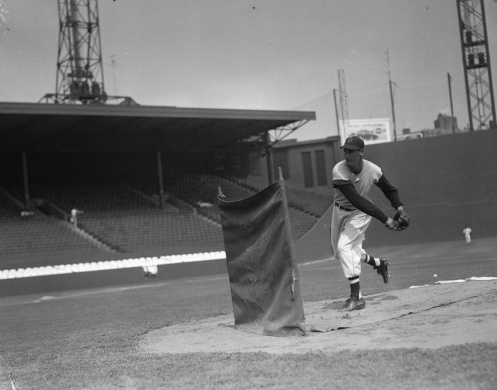 Ted Williams pitching BP