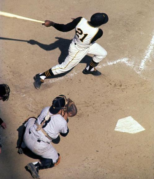 Clemente and Berra 1960 World Series