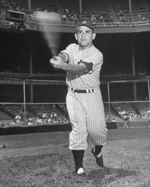 Yogi Berra pose