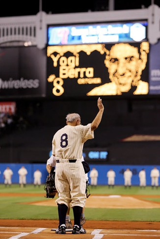 yogi final game at yankee stadium