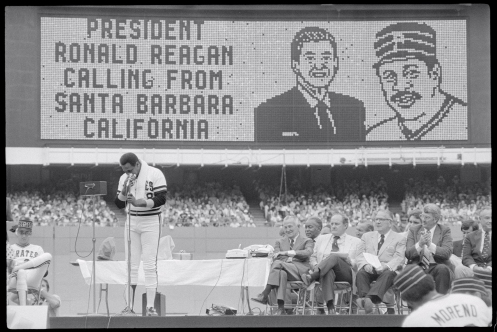 Willie Stargell Listening to the President